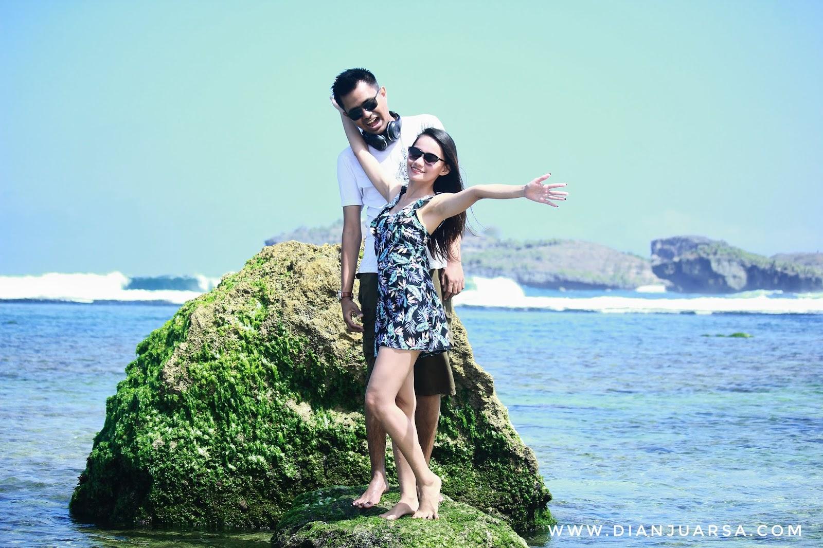 Pantai Sadranan berpasir lembut dan jernih - Untold Story