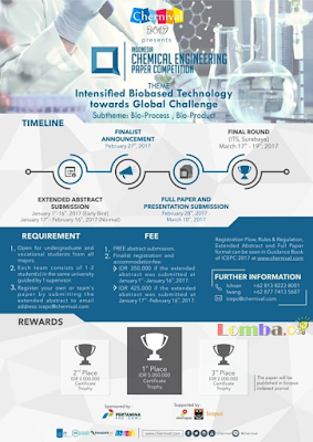 Lomba Indonesia Chemical Engineering Paper Competition (ICEPC) 2017