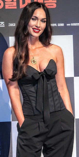 Megan Fox Hot Deep Cleavage Photos Actress Trend
