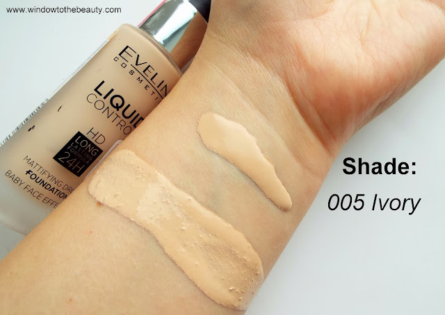 Eveline Liquid Control HD Long Lasting 24H Shade 005 Ivory
