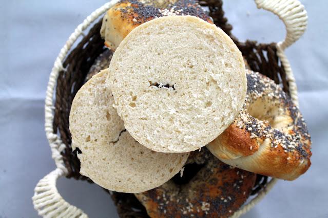 bagels con proteína