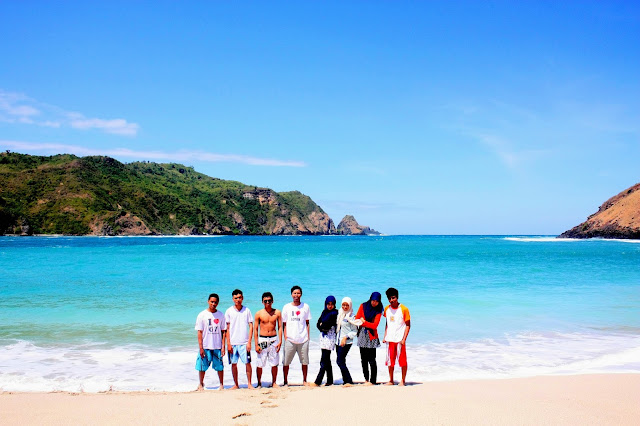 Nuansa Private Beach di Pantai Mawun Pulau Lombok