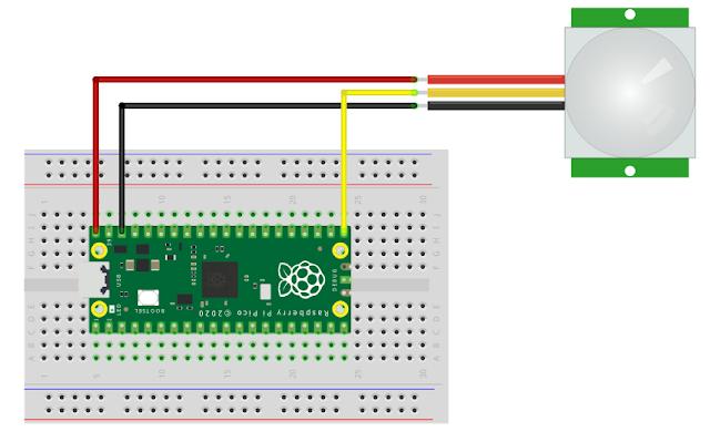 PIR Motion Sensor with Raspberry Pi Pico RP2040