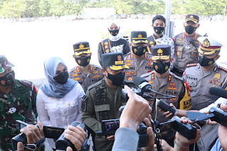 Polda Sulsel Gelar Apel Pasukan Kesiapan Pengamanan Hari Raya Idul Fitri dan Larangan Mudik Tahun 2021
