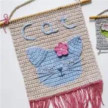 Tapiz Gatito a Crochet