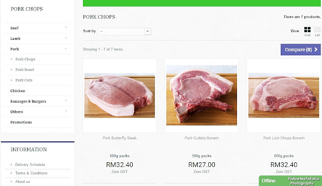 Step 2 ~ Choose your choice meat