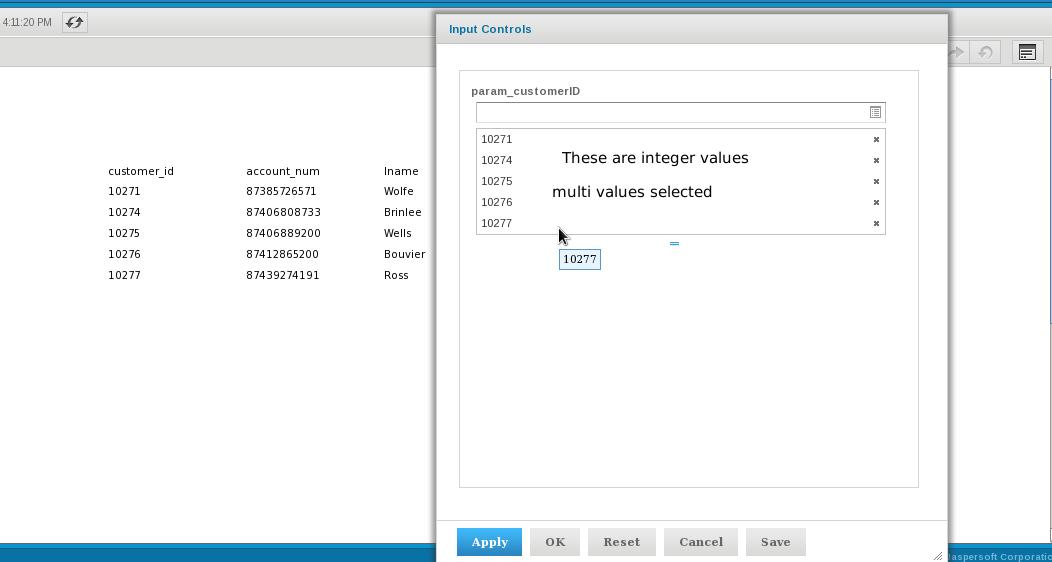 Tip : Multi Select Query Integer Parameter in Japser iReport