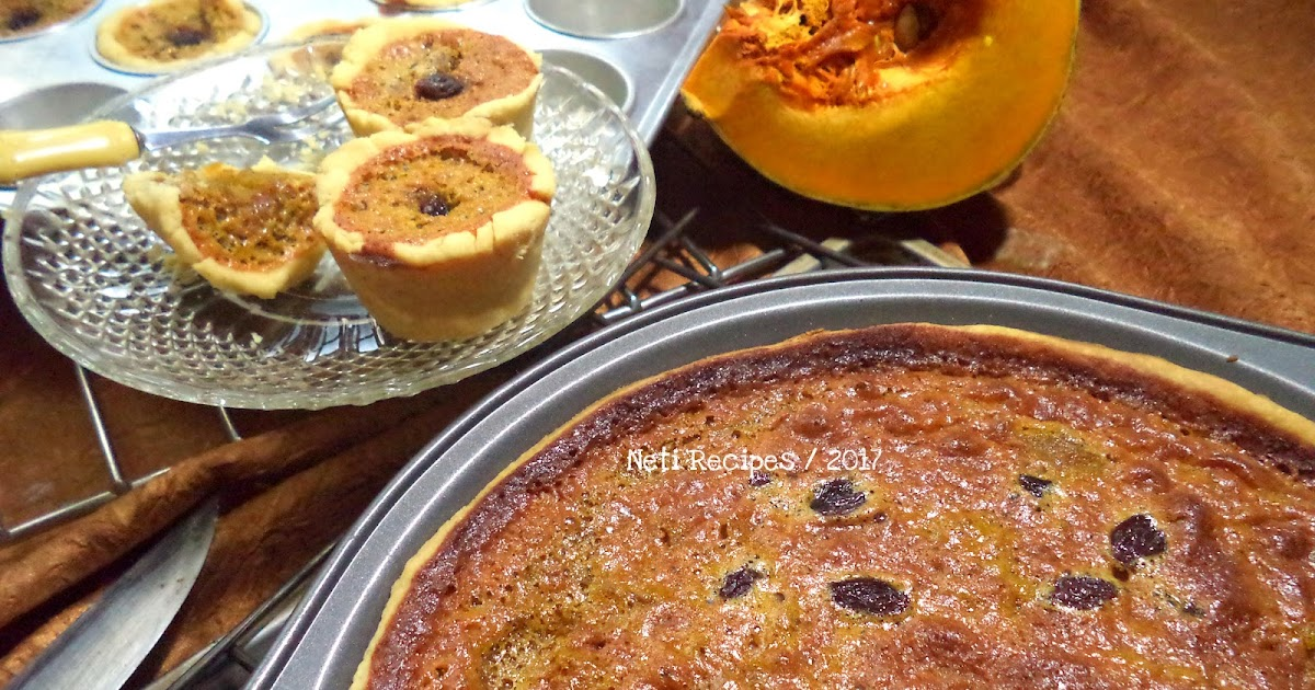 Resep Kue Pie Jepang: Resep Pie Labu Kuning Dengan Kismis