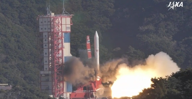 japan s epsilon 4 rocket launches seven satellites into space