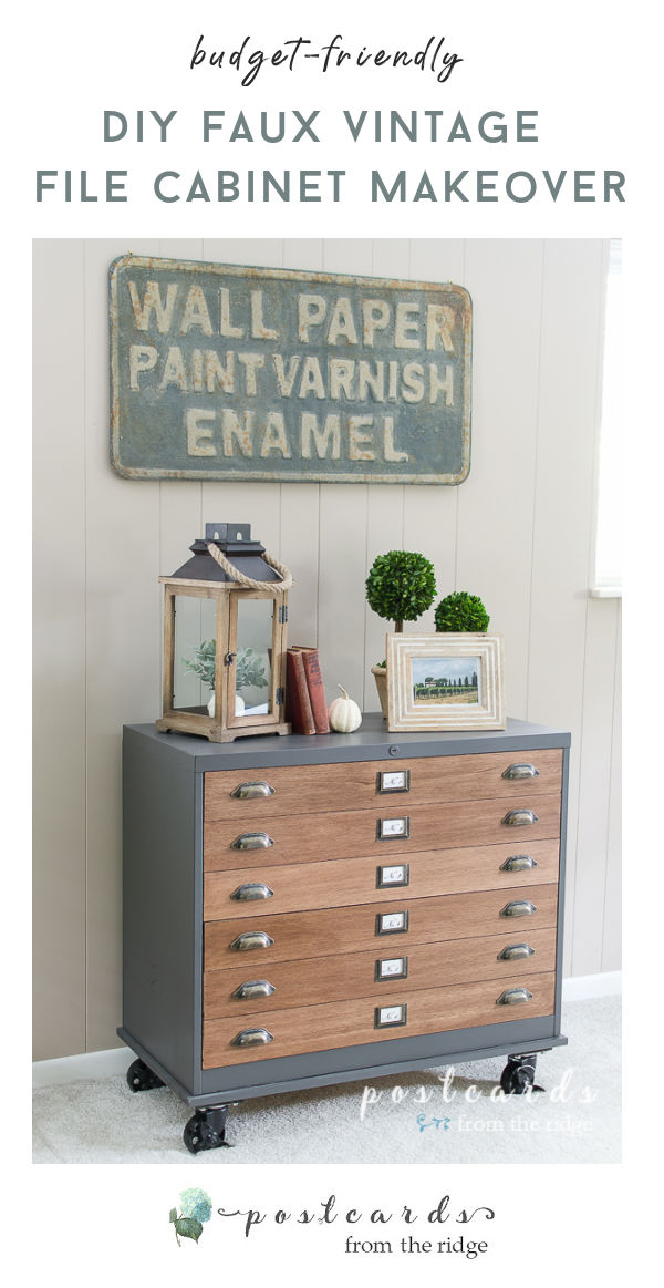 How To Update A Metal File Cabinet, Wooden File Cabinet Makeover