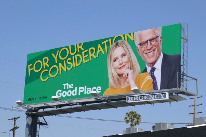 Good Place season 3 Emmy FYC billboard