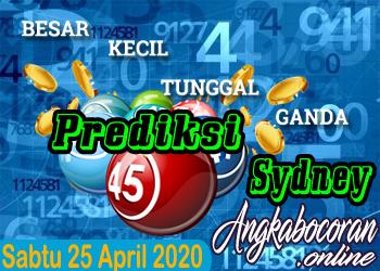Bocoran Togel Sydney 25 April 2020 Sabtu