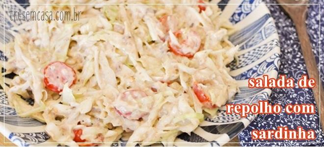 receita de salada de repolho com sardinha