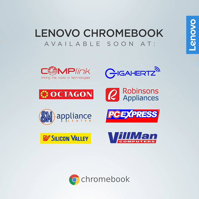 You can get the Lenovo Chromebooks in these stores soon
