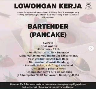 Lowongan Kerja Bartender (Pancake)