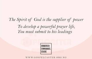 Developing a powerful prayer life