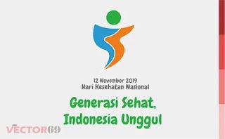 Logo Hari Kesehatan Nasional (HKN) 12 November 2019: Generasi Sehat, Indonesia Unggul - Download Vector File PDF (Portable Document Format)