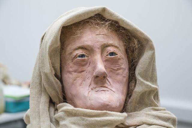 Face of Iron Age female druid recreated