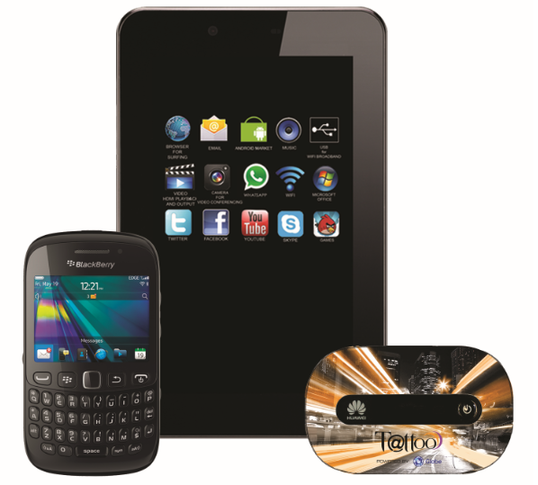 Skyworth S73, BlackBerry 9220 and Mobile WiFi