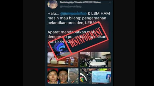 Bukan Bahan Peledak, Mobil B 1 RI yang Diamankan Polisi Saat Pelantikan Presiden Bermuatan Parang