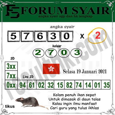 Forum Syair HK Selasa 19-Jan-2021