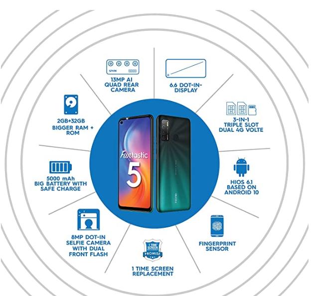 टेकनो का नया Smartphone Tecno Spark 5 5000 एमएच की बैटरी और 32 जीबी इंटरनल स्टोरेज के साथ