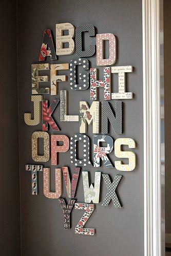 decorar a casa com palavras
