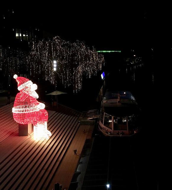 illuminated Santa in Germany