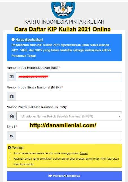 Cara Daftar KIP Kuliah 2021 Online Lengkap
