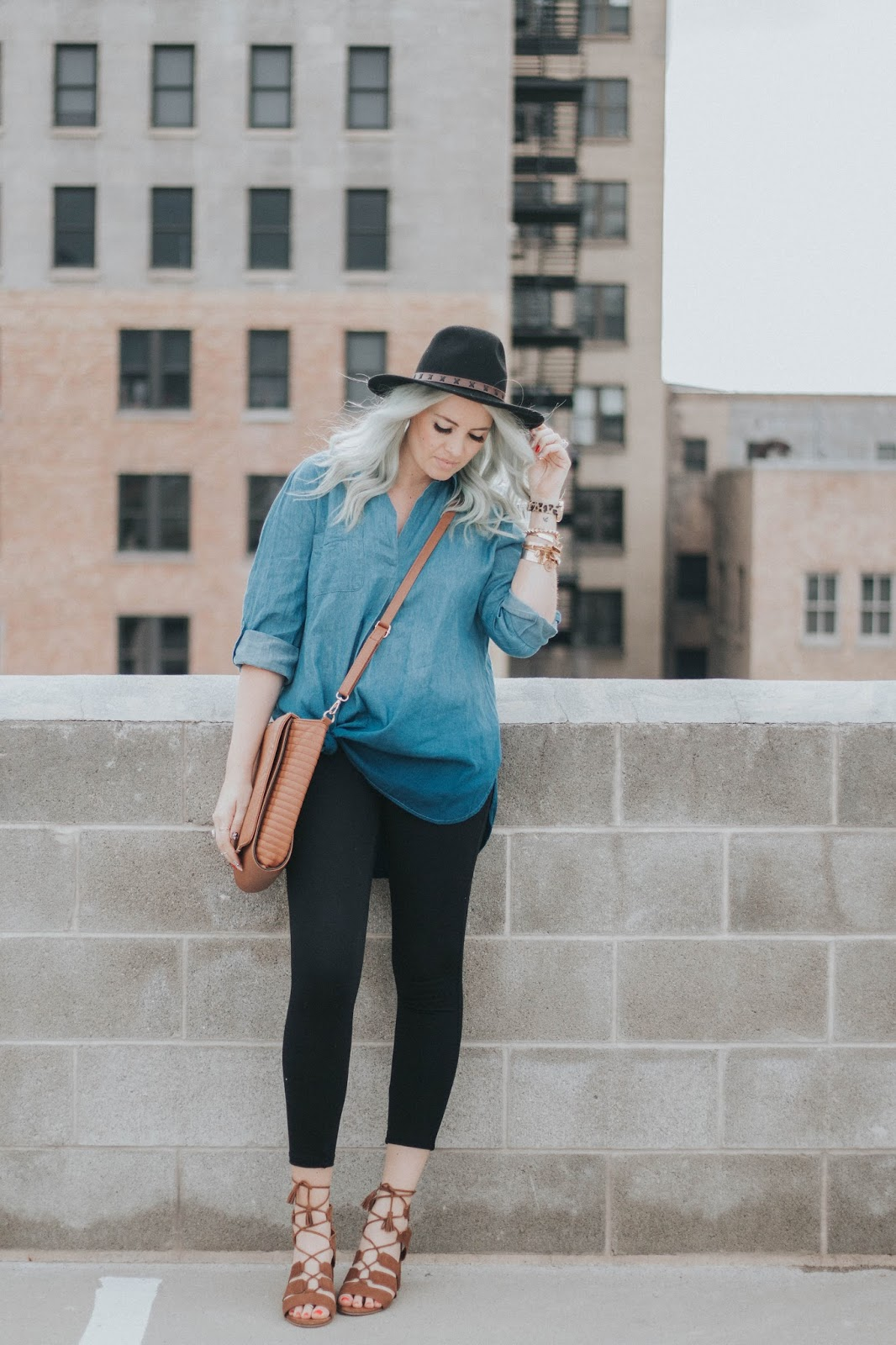 Ombre Denim Top, Shop Goldies, Spring Outfit