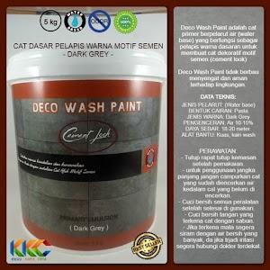 Cat Primer Wash Paint Motif Semen - Dark Grey - Kemasan 5 Kg
