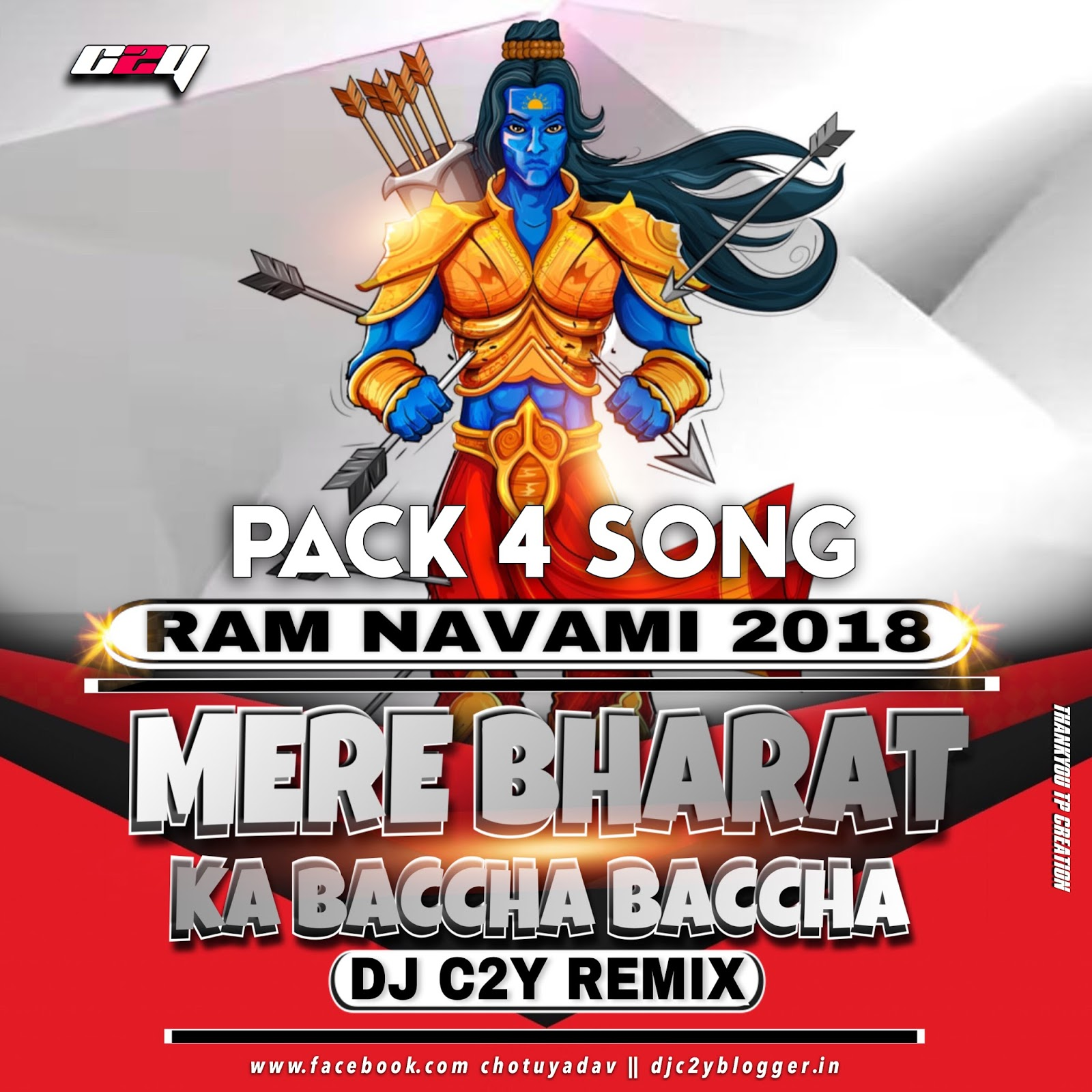 Bhagwa Rang Dj: RAMNAVMI SPECIAL PACK 4 SONG 2018 DJ C2Y