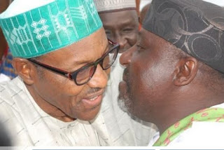 President Buhari In Closed Door Meeting With Imo State Governor, Rochas Okorocha