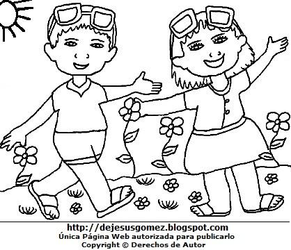 Dibujo de Primavera para colorear, pintar e imprimir para niños. Dibujo de primavera hecho por Jesus Gómez