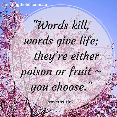 don't use words to wound your spouse - choose to speak light and life instead