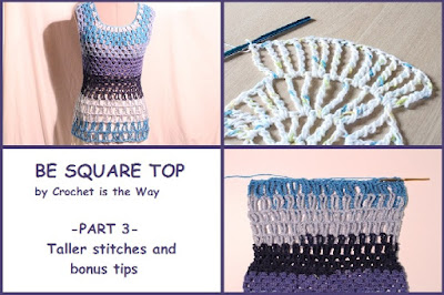 Be Square Top, blouse, Caron Cakes, crochet, easy, granny square, how to, pattern, shirt, square, sweater, taller stitches, tank top, top, tutorial