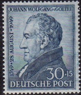 1949 Germany  J.W. von Goethe Bicentenary of Birth