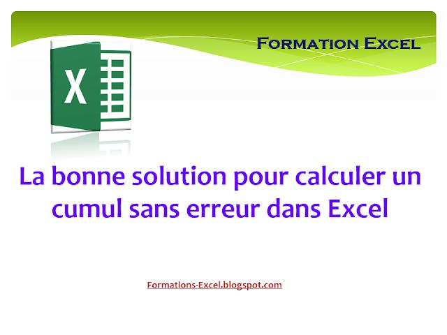 La bonne solution pour calculer un cumul sans erreur dans Excel