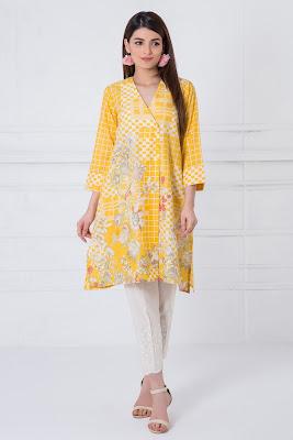 Khaadi summer kurta printed dresses pakistani lawn
