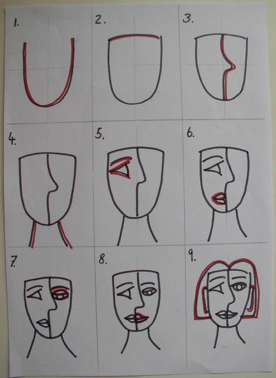 Visual Arts At AIS: Picasso Inspired Self Portrait 2B