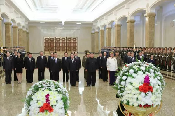 Kim Jong Un at Kumsusan Palace of Sun, December 17, 2020