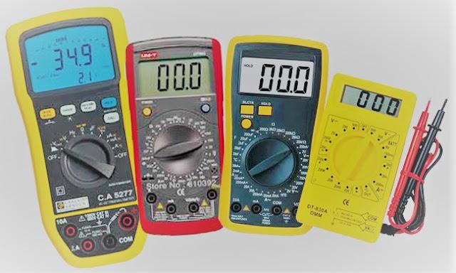 Tipo de Medidas Eléctricas + Aparatos de Medida   Ohmetro + Voltímetro + Amperímetro + Vatímetro + Varímetro + Polímetro + Fasímetro + Frecuencímetro + Pinza Amperimétrica
