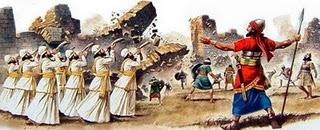 Resultado de imagen de Dar vueltas en círculo en Jericó