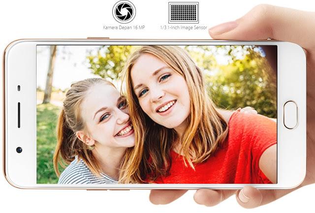OPPO F1s Selfie Expert dengan kamera depan yang memiliki resolusi 16 Megapixel dengan Aperture f/2.0 dan sensor 1/3.1 inci yang dibekali dengan fitur beauty 4.0. Untuk kamera belakangnya sendiri resolusinya 13 Megapixel dengan Aperture f/2.2 dan sensor 1/3.06 inci. Camera Phone ini sangat cocok bagi kalian yang memang gemar berfoto selfie
