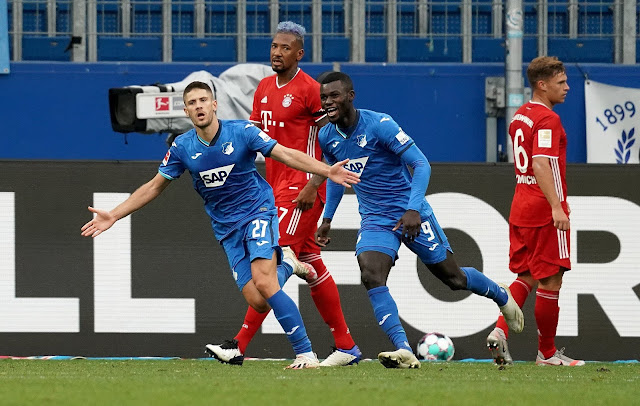Hoffenheim forward Andrej Kramaric celebrates goal vs Bayern Munich