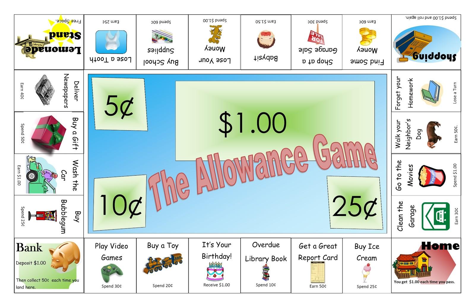 The Idea Cubby Allowance Money Game
