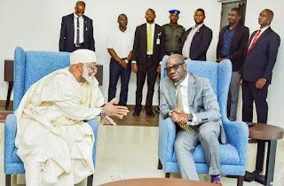 Edo Election: Details of Gen. Abubakar's meeting with Gov Obaseki, others emerge