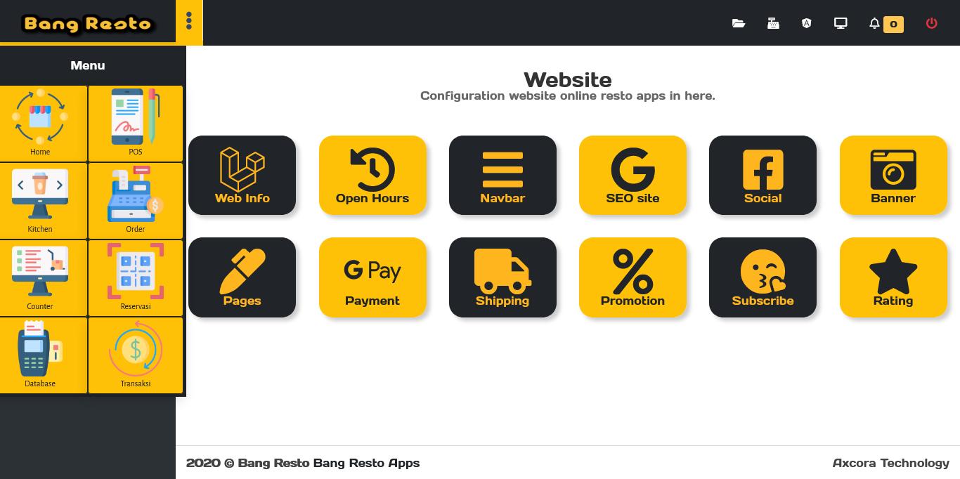 aplikasi pembuatan website hotel