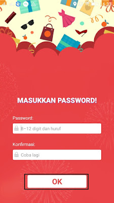 cara membuat password pada saat daftar di aplikasi shopmap