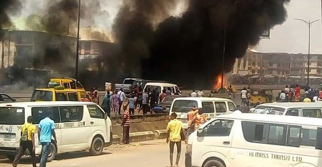 Mother, child burnt to death as Petrol-laden truck explodes in Onitsha